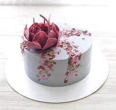 Cake decorating ideas in addition to easy cake recipes and pastry recipes is here! Gorgeous Cakes, Pretty Cakes, Amazing Cakes, Buttercream Cake, Fondant Cakes, Cupcake Cakes, Frosting, Bolo Floral, Painted Cakes