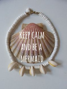 gypsy mermaid   vintage inspired puka and cowrie shell necklace  by beachcomberhome, keep calm and be a mermaid $22.00