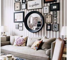 photos au mur cadres-miroir-rond
