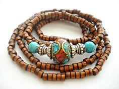 Yoga Bracelet Tibetan Jewellery Yoga by HandcraftedYoga on Etsy, $30.00