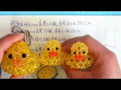How to bead animal acceceroy: Big yellow duck 1/2 - YouTube