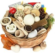 Extra Large Treasure Basket for Childcare Professionals - 50 items - Montessori Learning Resource. Montessori, Treasure Basket, Baby Sensory Play, Teaching Colors, Waldorf Toys, Wooden Pegs, Childcare, Nursery Decor, Unique Gifts