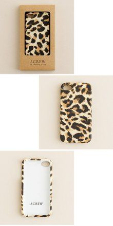 J.CREW Printed iPhone Case レオパード