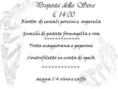 #menu #promo #14euro #gusto #qualità#economia #osteria #locale #particolare