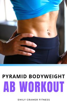 Click through for a killer pyramid ab workout that can be done at home or at the gym. No equipment necessary! This workout is great for building a tight, strong core. Body Weight Ab Workout, Six Pack Abs Workout, Cardio Workouts, Fitness Tips For Women, Health And Fitness Tips, 6 Pack Abs For Women, Pyramid Training, Intense Ab Workout, Flexible Dieting