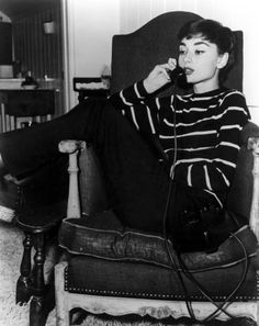 Does this look familar except for the cord? Audrey Hepburn 1950's #vintage #photography
