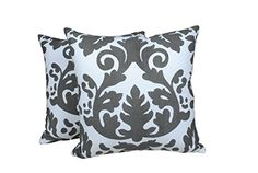 2 Piece Set Trendsetter Homez Throw Pillow Cover Cushion Case Made of Pure Cotton Size 18 By 18 Inches Damask Design By Trendsetter Homez Cushion Cover Pillow Case Collection TrendSetter Homez http://www.amazon.com/dp/B00VA07OPI/ref=cm_sw_r_pi_dp_Sb5Mvb1P993MT