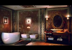Luxurious Bathroom Facade By YANNA CONCEPT : Remarkably Cool And Wildly Artistic Bathrooms | Bathroom Designs, Stylish Bathrooms