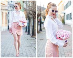 Waist Skirt, High Waisted Skirt, White Shorts, Flower, Box, Skirts, Women, Fashion, Moda