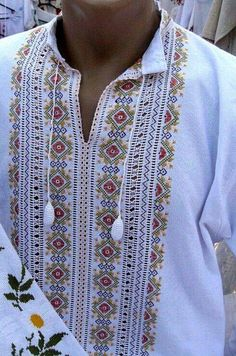 Hardanger Embroidery, Folk Embroidery, Embroidery Patterns, Folk Fashion, Ethnic Fashion, Mens Designer Shirts, Lace Art, Embroidered Clothes, Stitch Design