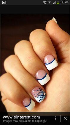 Wedding nails for bridesmaid