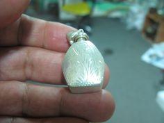 S 08g Scarce Hm Vintage Miniature BOTTLE PENDANT in 925 Sterling SILVER by spyrinex06 on Etsy