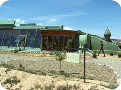 Earthship Biotecture headquarters in TAOS, New Mex