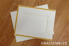 Frame Mount - option is for them to arrive unassembled.  Great for images printed on thick art paper.
