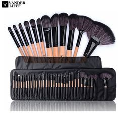 Cheap Price Professional Makeup Brushes Set Make Up Powder Brush Pinceaux maquillage Beauty Cosmetic Tools Kit Eyeshadow Lip Brush Bag Makeup Brush Bag, Makeup Brush Cleaner, Makeup Brush Holders, Eyeliner Brush, Lip Brush, Brush Set, It Cosmetics Brushes, Eyeshadow Brushes, Makeup Guide