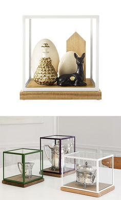 The Kub Vitrine by Asplund is the perfect way to display and protect all your treasures. #display #vitrine #storage #asplund #hauteliving #chicago