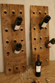 Reclaimed Wood Riddling Wine Racks