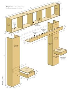 Free bookcase headboard plans diy projects pinterest for Build your own corner bookcase