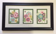 Home Decor, Paper Craft Art, Flower Patch stamp set, Flower Fair Framelits, Spring Flowers