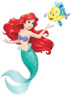 Images of Ariel from The Little Mermaid.