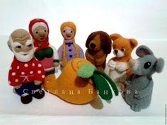 """Купить Пальчиковый кукольный театр Сказка """"Репка"""" - кукольный театр, пальчиковые игрушки, пальчиковый театр"""