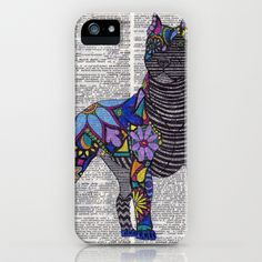Whimsical Pitbull Dancing on Words iPhone & iPod Case by Georgie Pearl Designs - $35.00