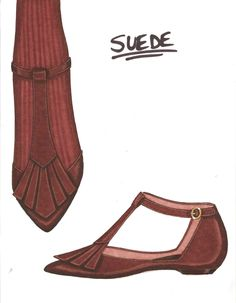 Steve Goss shoe design illustration