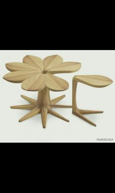 A set of side tables inspired by a flower!