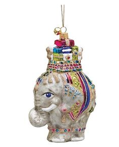 Elephant Christmas Ornament | Elephant Obsession | Pinterest | Animal