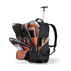 Everki Atlas Laptop-Rucksack auf Rollen mit anpassbarem Fach für Notebooks von 13-Zoll bis 17.3-Zoll | EKP122 | Auf Rollen | Cool Laptop Bags | 18.4