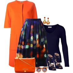 A fashion look from September 2014 featuring Bottega Veneta coats, Chicwish skirts and Miu Miu sandals. Browse and shop related looks.