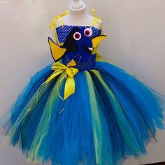 Finding Dory inspired Tutu Dress Age's 3 up to Age 12