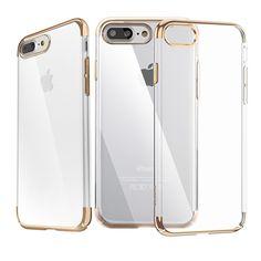 Coque iPhone 7 Plus Polycarbonate Super Slim - Transparent / Doré