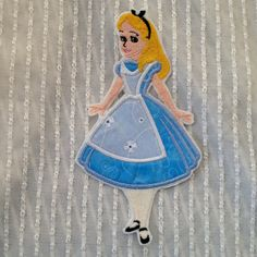 Alice in Wonderland Iron on Patch by Sewpplies on Etsy, $10.00