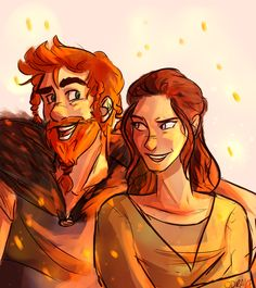 a young Stoick & Valka ~ love the little resemblance to Hiccup here! HTTYD fan art | by odrake.tumblr