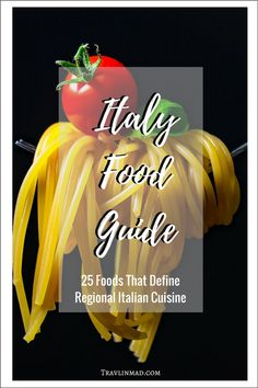 There's no greater expression of the history and culture of a place like Italy than the food, and exploring the unique regions through traditional Italian food is the most fun a foodie can have! Here are 25 must-try regional foods of Italy that'll flavor your culinary tour of bella Italia. | famous Italian foods, Italian food, Traditional Italian Food, Italy food guide, regional Italian cuisine, Foodies Guide to Italy