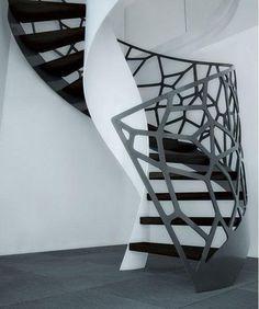 Rampe d'escalier fer forge - Aena