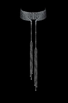 White gold necklace with 1,728 diamonds from Alexander Arne jewellery.