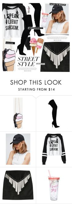 """""""Striking Youth"""" by monazor ❤ liked on Polyvore featuring Chiara Ferragni, Cheap Monday, Anthony Vaccarello, Slant, awesomeness, cooloutfit, highboots and rosegal"""