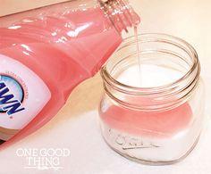 gardeners hand scrub  - make a paste of sugar and Dawn (pink)