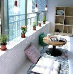 베란다 아이디어 Small Balcony Decor, Balcony Design, Home Interior Design, Interior Decorating, Porches, Dream House Plans, House Made, Small Space Living, Happy House