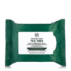 The Body Shop Tea Tree Skin Clearing Facial Wipes The Body Shop, Body Shop Tea Tree, Oils For Dandruff, Homemade Acne Treatment, Shops, Makeup Wipes, Oils For Skin, Facial Skin Care, Face Cleanser
