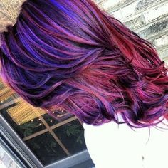 Red with Violet highlights... i love this