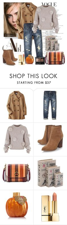 """Untitled #1001"" by misaflowers ❤ liked on Polyvore featuring Uniqlo, Hollister Co., TIBI, Nine West, Tory Burch, Home Decorators Collection and Guerlain"