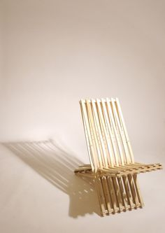 chair made of 8 pairs of old crutches !