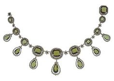 Necklace  from the peridot parure of Archduchess  Isabella of Austria.