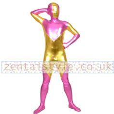 Full Body Gold and Plum Shiny Metallic Back Zipper Unisex Zentai Suit [TWL111226113] - £33.39 : Zentai, Sexy Lingerie, Zentai Suit, Chemise