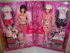 2008 Shanghai Brunette & Blonde Barbie Dolls and 50 similar items Barbie 1990, Mattel Barbie, Barbie Fashionista Dolls, Vintage Barbie Clothes, Beautiful Barbie Dolls, Disney Dolls, Barbie Collector, Antique Dolls, Pattern Fashion