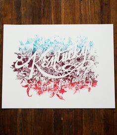 'Kentucky Home Far Away' Print