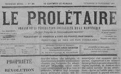 """Journal """"Le Prolétaire"""" appuyant la Fédération Socialiste de la Martinique"""